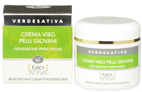 Verdesativa – crema viso pelle giovani – 100% naturale